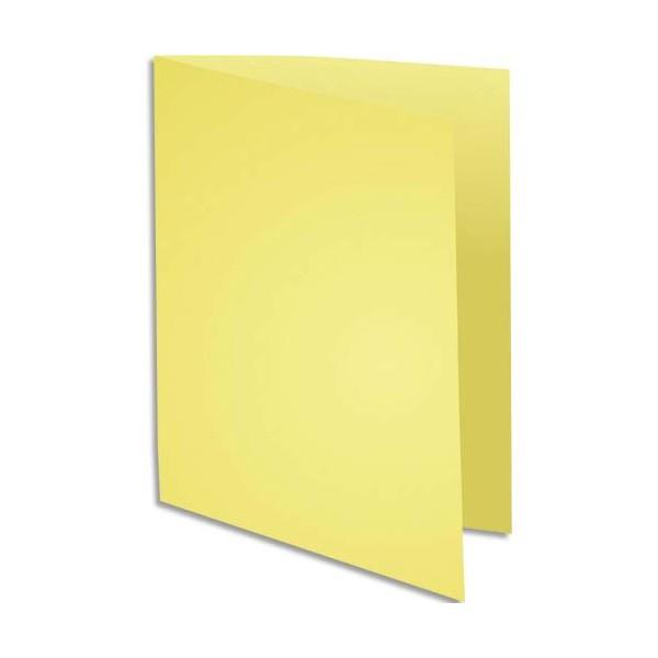 EXACOMPTA Paquet de 100 chemises Super 250 en carte 210 g, coloris jaune