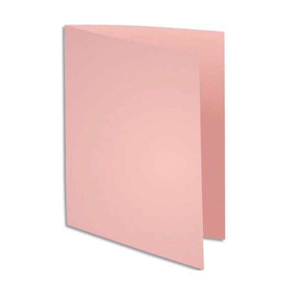 EXACOMPTA Paquet de 100 chemises Super 250 en carte 210 g, coloris rose