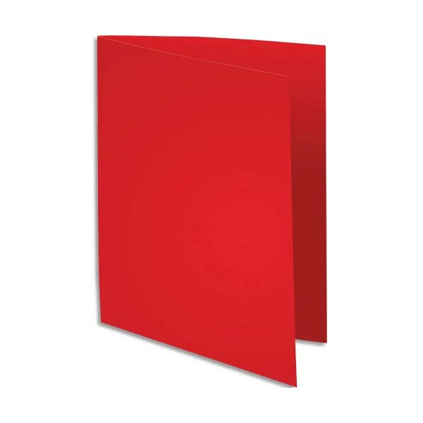 EXACOMPTA Paquet de 100 chemises Super 250 en carte 210 g, coloris rouge