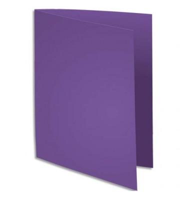 EXACOMPTA Paquet de 100 chemises Rock's en carte 210 g, coloris violet