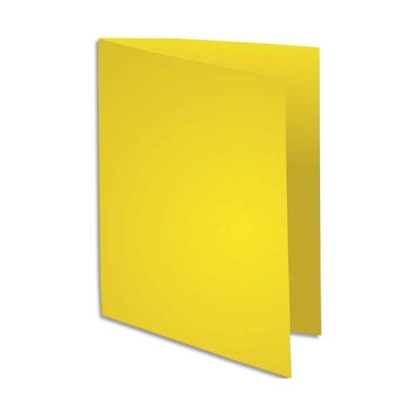 EXACOMPTA Paquet de 100 chemises Rock's en carte 210 g, coloris jaune