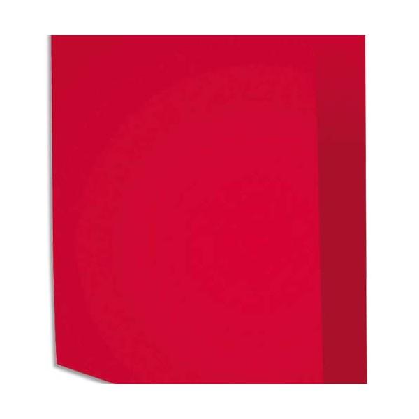 EXACOMPTA Paquet de 100 chemises Rock's en carte 210 g, coloris framboise