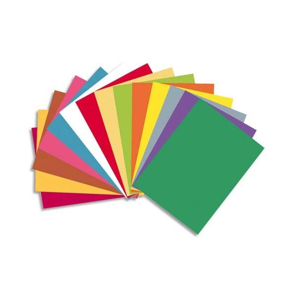 EXACOMPTA Paquet de 100 chemises Rock's en carte 210 g, coloris assortis