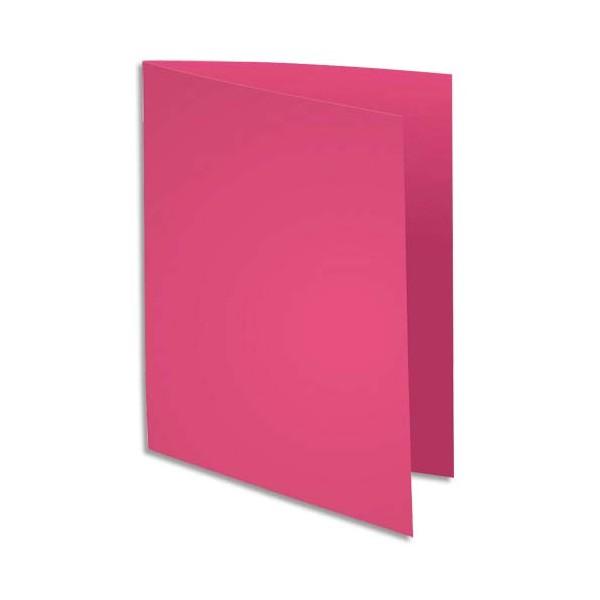 EXACOMPTA Paquet de 100 chemises Rock's en carte 210 g, coloris rose fushia