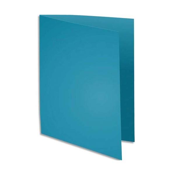 EXACOMPTA Paquet de 100 chemises Rock's en carte 210 g, coloris bleu