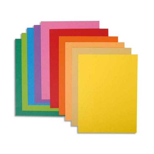 EXACOMPTA Paquet de 10 chemises Rock's en carte 220 g, coloris assortis