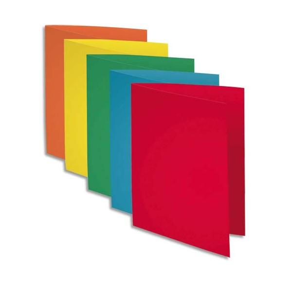 EXACOMPTA Paquet de 50 chemises et 100 sous chemises Rock's en carte 220g et 80g, coloris assortis