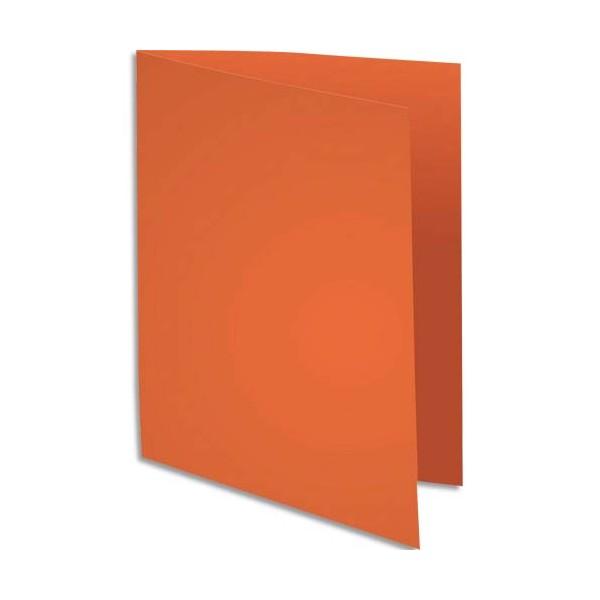 EXACOMPTA Paquet de 100 sous-chemises Rock's en carte 80 g, coloris orange