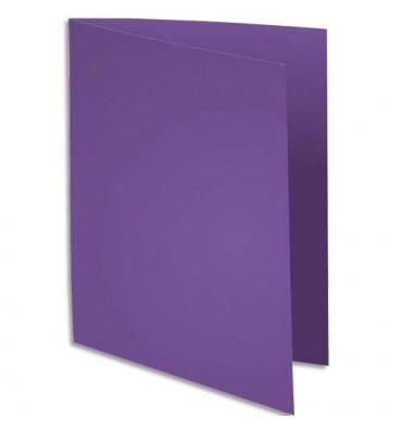 EXACOMPTA Paquet de 100 sous-chemises Rock's en carte 80 g, coloris violet