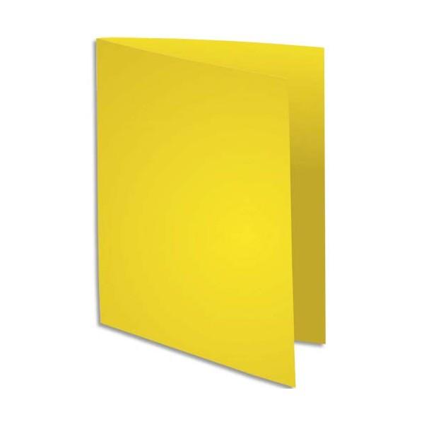 EXACOMPTA Paquet de 100 sous-chemises Rock's en carte 80 g, coloris jaune