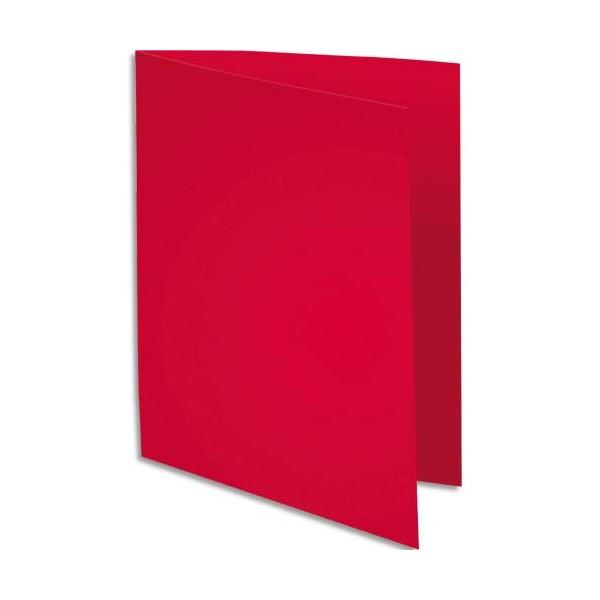 EXACOMPTA Paquet de 100 sous-chemises Rock's en carte 80 g, coloris rouge