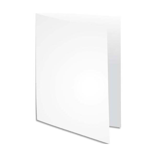 EXACOMPTA Paquet de 100 sous-chemises Rock's en carte80 g, coloris blanc