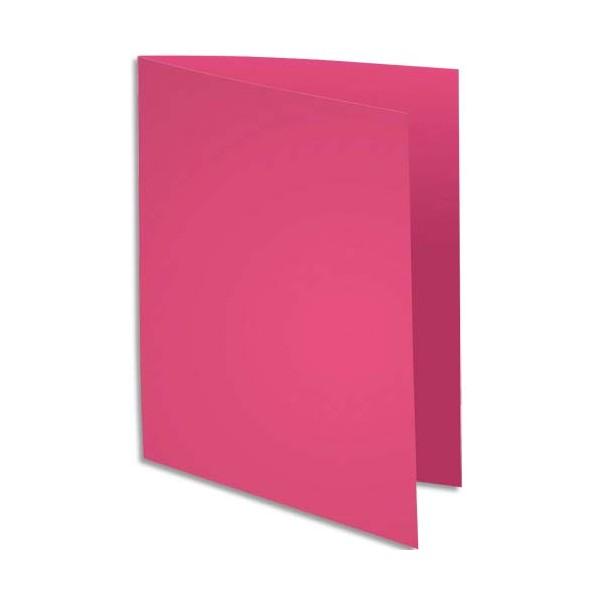 EXACOMPTA Paquet de 100 sous-chemises Rock's en carte 80 g, coloris rose fuchsia