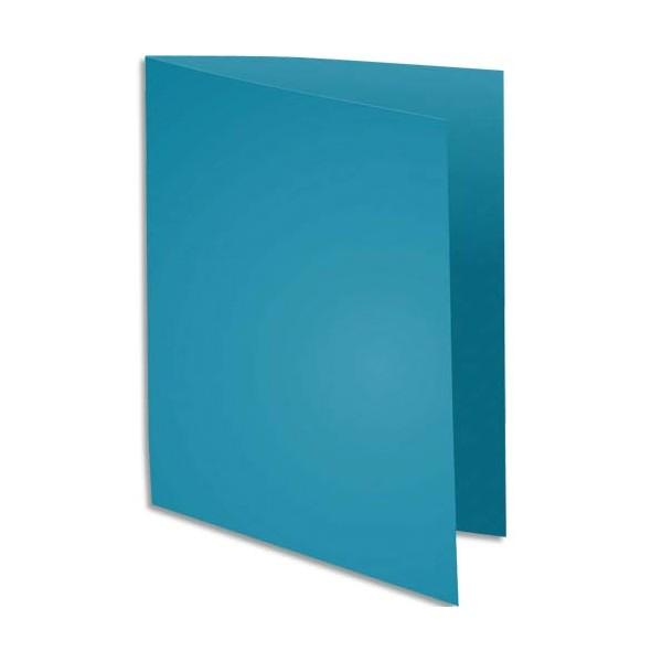 EXACOMPTA Paquet de 100 sous-chemises Rock's en carte 80 g, coloris turquoise