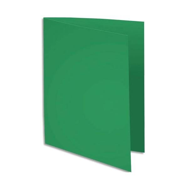 EXACOMPTA Paquet de 100 sous-chemises Rock's en carte 80 g, coloris vert sapin