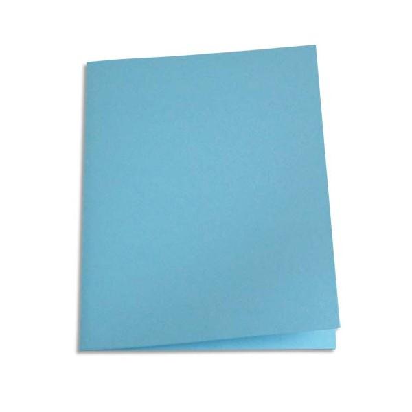 5 ETOILES Paquet de 100 chemises carte recyclée 180g coloris bleu clair (photo)