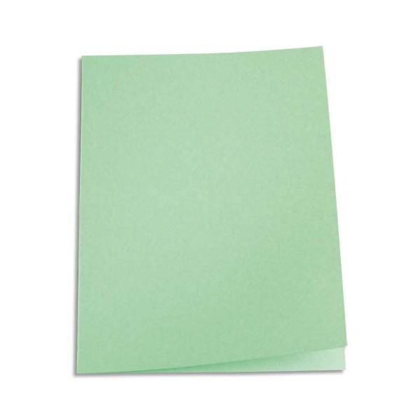 5 ETOILES Paquet de 100 chemises carte recyclée 180g coloris vert (photo)