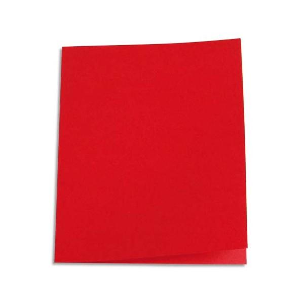 5 ETOILES Paquet de 100 chemises carte recyclée 180g coloris rouge (photo)