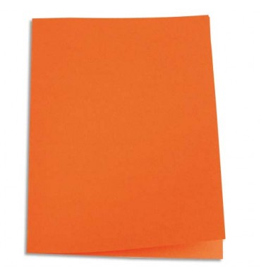 5 ETOILES Paquet de 100 chemises carte recyclée 180g coloris orange