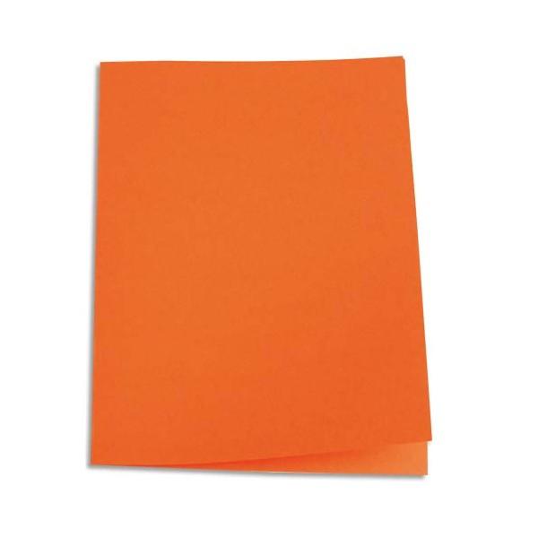 5 ETOILES Paquet de 100 chemises carte recyclée 180g, coloris orange (photo)
