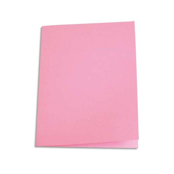 5 ETOILES Paquet de 100 chemises carte recyclée 180g coloris rose (photo)