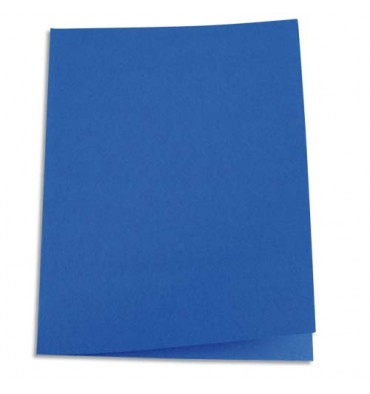 5 ETOILES Paquet de 100 chemises carte recyclée 180g coloris bleu foncé