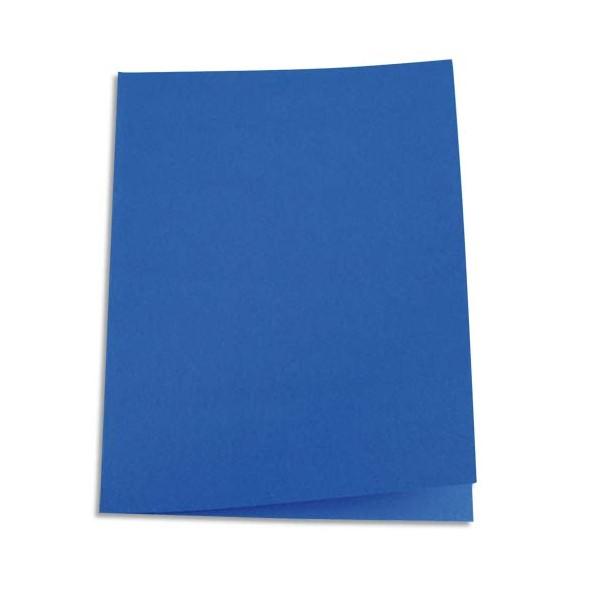 5 ETOILES Paquet de 100 chemises carte recyclée 180g coloris bleu foncé (photo)