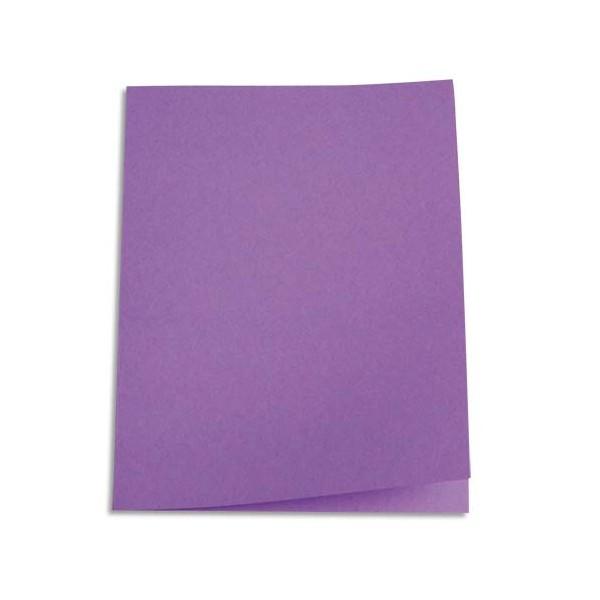 5 ETOILES Paquet de 100 chemises carte recyclée 180g coloris lilas (photo)