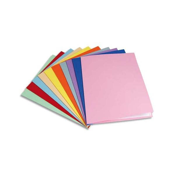 5 ETOILES Paquet de 100 chemises carte recyclée 180g, coloris assortis (photo)