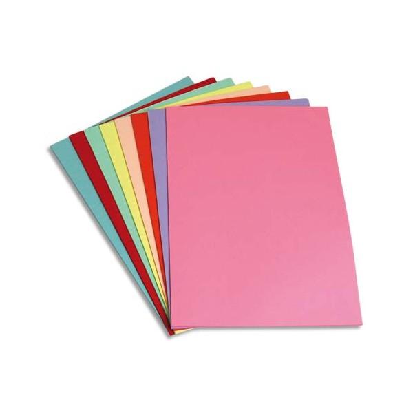 5 ETOILES Paquet de 250 sous-chemises papier recyclé 60g, coloris assortis (photo)