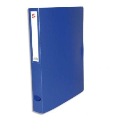 5 ETOILES Boîte de classement dos de 4 cm, en polypropylène 7/10e, coloris bleu