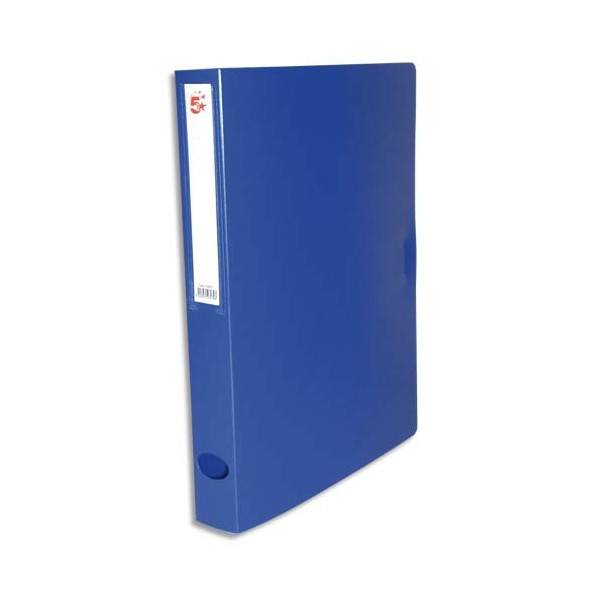 5 ETOILES Boîte de classement dos de 4 cm, en polypropylène 7/10e, coloris bleu (photo)
