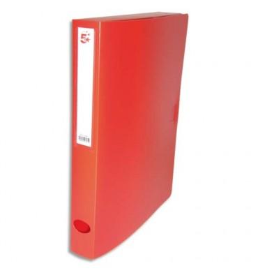 5 ETOILES Boîte de classement dos de 4 cm, en polypropylène 7/10e, coloris rouge
