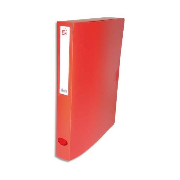5 ETOILES Boîte de classement dos de 4 cm, en polypropylène 7/10e, coloris rouge (photo)