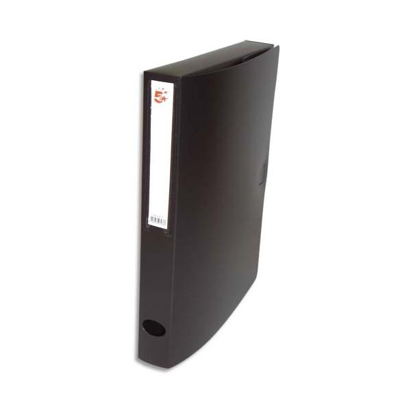 5 ETOILES Boîte de classement dos de 4 cm, en polypropylène 7/10e, coloris noir (photo)