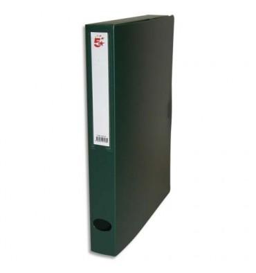 5 ETOILES Boîte de classement dos de 4 cm, en polypropylène 7/10e, coloris vert