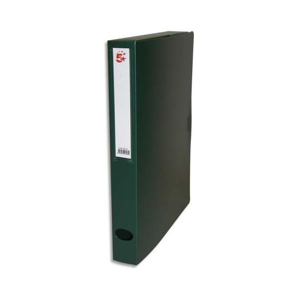 5 ETOILES Boîte de classement dos de 4 cm, en polypropylène 7/10e, coloris vert (photo)