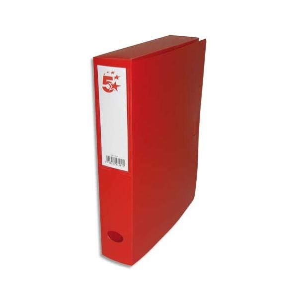 5 ETOILES Boîte de classement dos de 6 cm, en polypropylène 7/10e, coloris rouge (photo)