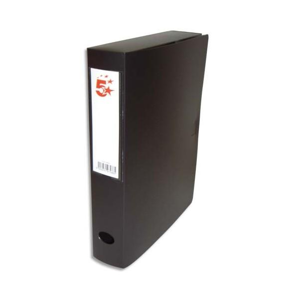 5 ETOILES Boîte de classement dos de 6 cm, en polypropylène 7/10e, coloris noir (photo)