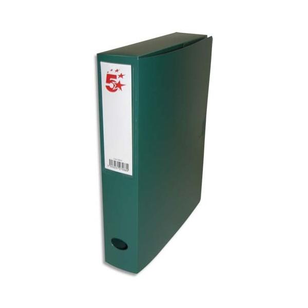5 ETOILES Boîte de classement dos de 6 cm, en polypropylène 7/10e, coloris vert (photo)