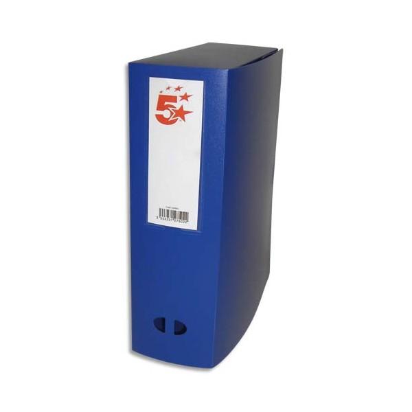 5 ETOILES Boîte de classement dos de 10 cm, en polypropylène 7/10e, coloris bleu (photo)