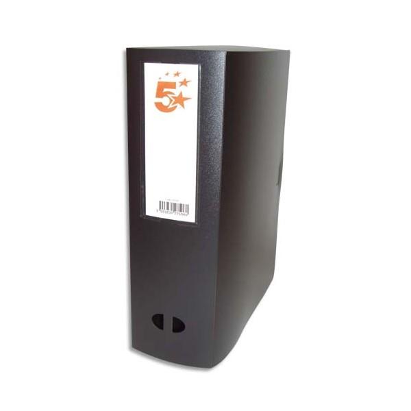 5 ETOILES Boîte de classement dos de 10 cm, en polypropylène 7/10e, coloris noir (photo)