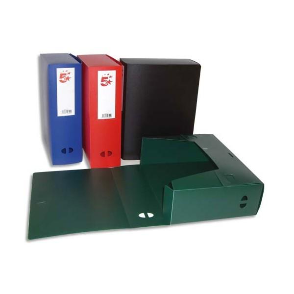 5 ETOILES Boîte de classement dos de 10 cm, en polypropylène 7/10e, coloris assortis (photo)