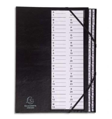 EXACOMPTA Trieur alphanumérique 26 compartiments couverture plastifiée