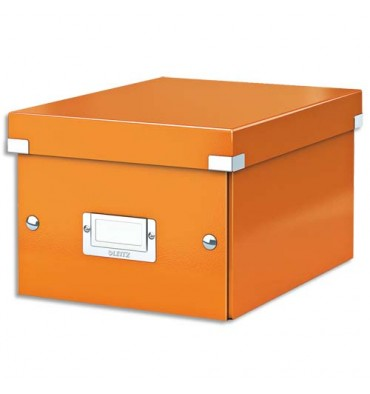 LEITZ Boîte CLICK & STORE S-Box, Format A5 - Coloris : Orange Wow
