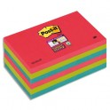 POST-IT Lot 6 blocs repositionnables Super Sticky Vitamine 76 x 127 mm, coloris assortis Bora Bora