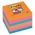 POST-IT Lot 6 blocs repositionnables Sticky Pétillantes 76 x 76 mm, coloris assortis Bangkok