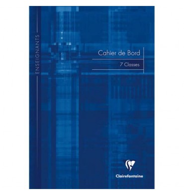 CLAIREFONTAINE Agenda de bord brochure souple 21 x 29,7 cm 144 pages : 48 cases par semaine