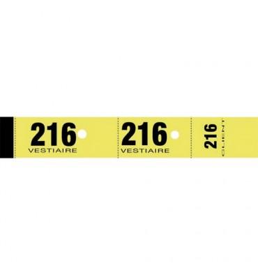 ELVE Blocs de 50 tickets vestiaire 3 x 20 cm jaune