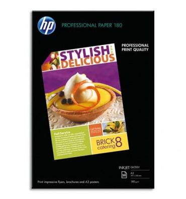 HP Pack de 50 Papier photo professionnel jet d'encre brillant 180g A3